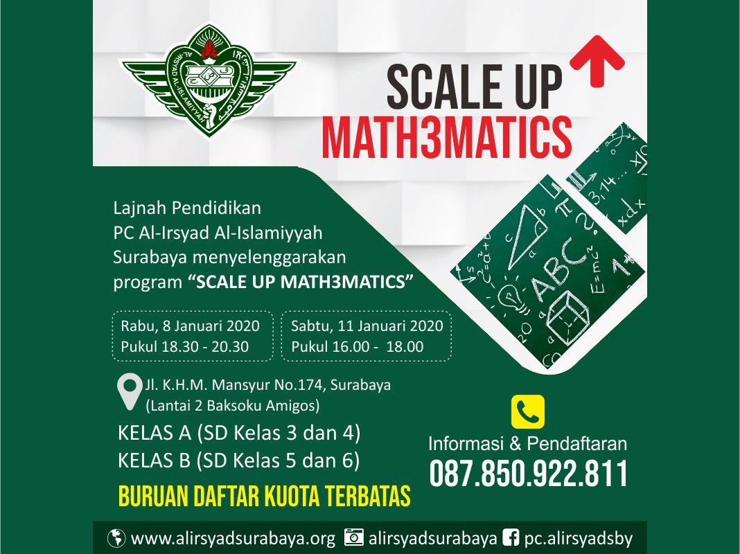 Scale Up Mathematics Al Irsyad Al Islamiyyah Surabaya